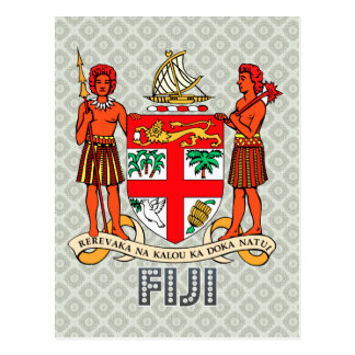 Fiji Coat of Arms Postcard