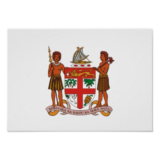 Fiji Coat of Arms Print