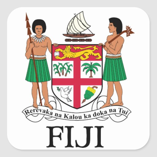 FIJI - emblem / flag / coat of arms / symbol Square Sticker