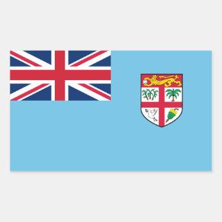 Fiji/Fijian Flag Rectangular Sticker