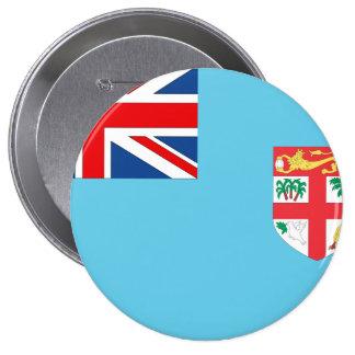 Fiji Flag 10 Cm Round Badge