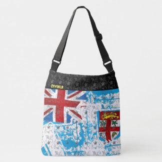 FIJI FLAG-HIBISCUS CROSS-BODY BAG