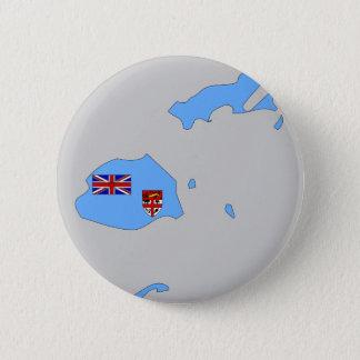 Fiji flag map 6 cm round badge