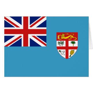Fiji Flag Notecard Greeting Card