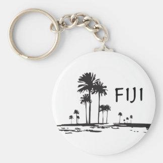 Fiji - Graphic Palm Trees Key Chain