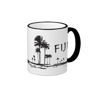 Fiji - Graphic Palm Trees Ringer Mug