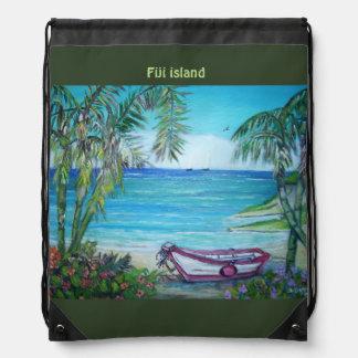 Fiji Island, Drawstring Backpack