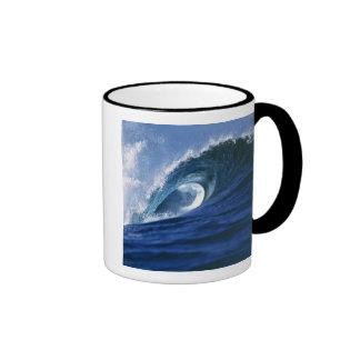 Fiji Islands, Tavarua, Cloudbreak. A wave Ringer Mug
