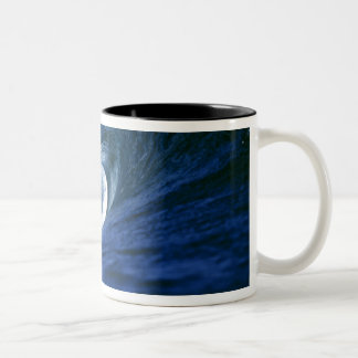 Fiji Islands, Tavarua, Cloudbreak. A wave Two-Tone Coffee Mug