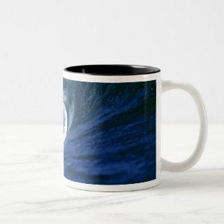 Fiji Islands, Tavarua, Cloudbreak. A wave Two-Tone Mug