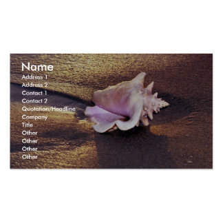 Fiji Islands, there are still shells like this on Business Card Template