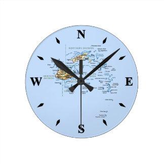 Fiji Map Clock