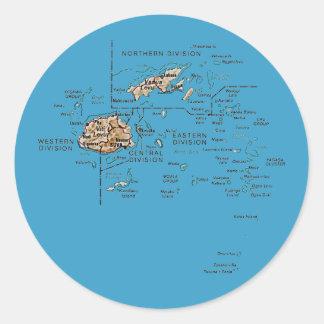 Fiji Map Sticker