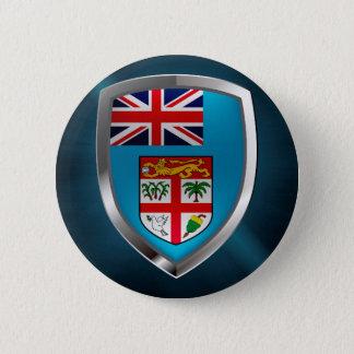 Fiji Mettalic Emblem 6 Cm Round Badge