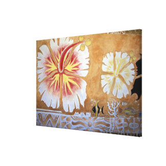 Fiji, mural art. canvas print