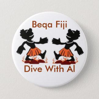 Fiji Native, Beqa Fiji, Dive With Al 7.5 Cm Round Badge