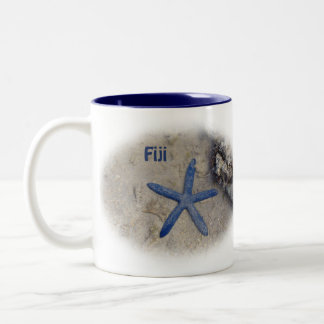 Fiji Seastar (Starfish) Two-Tone Coffee Mug