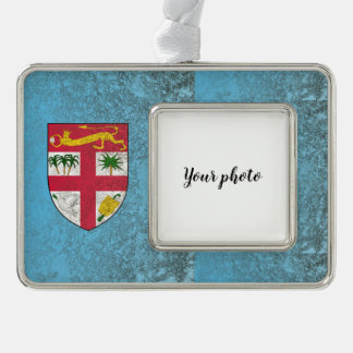 Fiji Silver Plated Framed Ornament