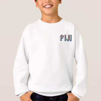 Fiji South Pacific Country Flag Typography Sweatshirt