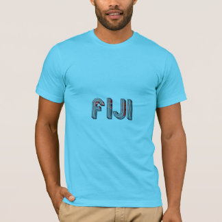 Fiji South Pacific Country Flag Typography T-Shirt