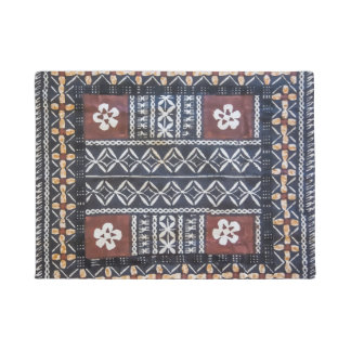 Fiji Tapa Cloth Print Door Mat