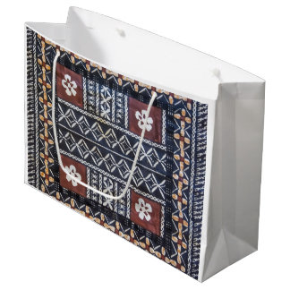 Fiji Tapa Cloth Print Gift Bag