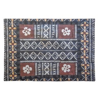 Fiji Tapa Cloth Print Placemats
