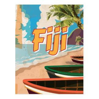 Fiji Vintage travel poster Post Cards