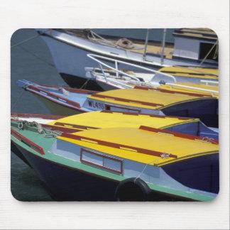 Fiji, Viti Levu, Lautoka, Small boats in Port of Mouse Pad