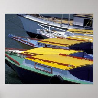 Fiji, Viti Levu, Lautoka, Small boats in Port of Poster