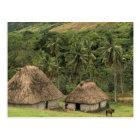 Fiji, Viti Levu, Navala, Traditional Bure houses Postcard