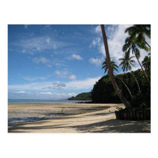 Fijian Beach Postcard