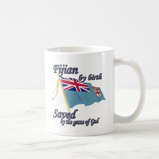Fijian by birth saved by the grace of God Coffee Mugs