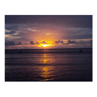 Fijiian Sunset Postcard