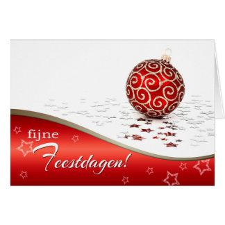 Fijne Feestdagen. Christmas Cards in Dutch