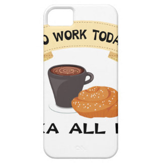 fika all day, no work today barely there iPhone 5 case