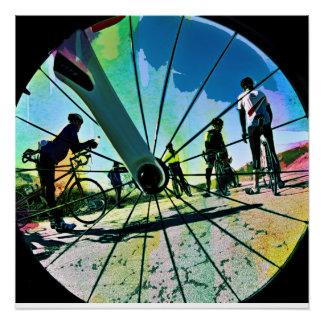 Fikeshot through the wheel. poster