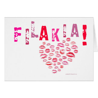 Filakia! (kisses) Greek Card