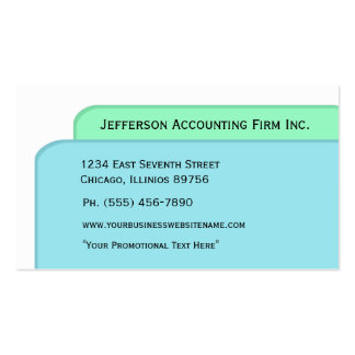 File Folders Blue Green Accountant Business Cards