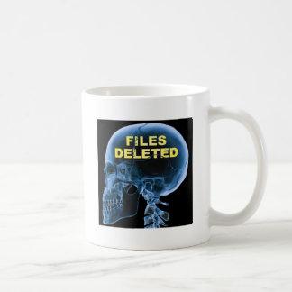 Files Deleted Skull Funny Mug