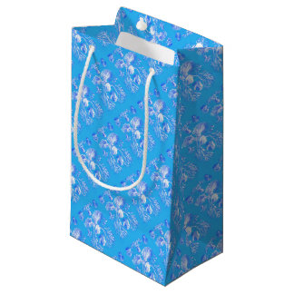 Filicinae on Blue Background Small Gift Bag