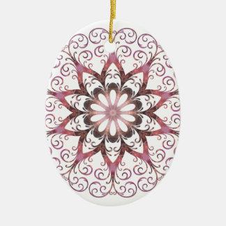 Filigree Ametrine Healing Crystal Mandala Ceramic Oval Decoration