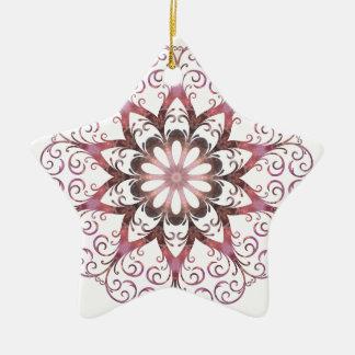 Filigree Ametrine Healing Crystal Mandala Ceramic Star Decoration