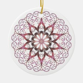 Filigree Ametrine Healing Crystal Mandala Round Ceramic Decoration