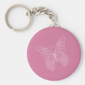 Filigree Butterfly Key Chain in Pink