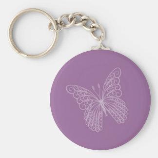 Filigree Butterfly Key Chain in Purple