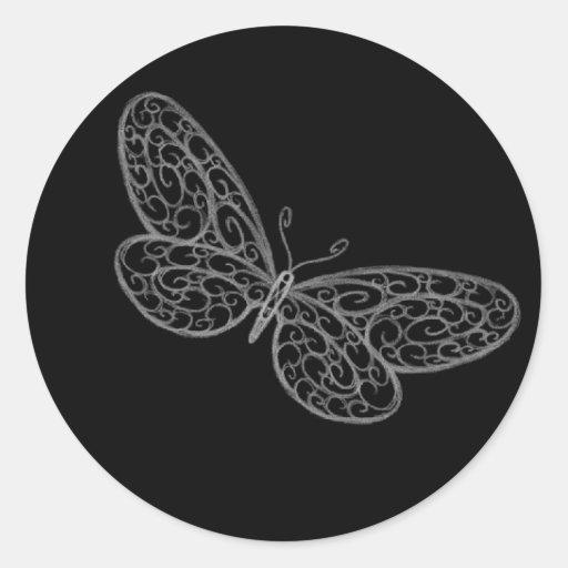 Filigree Butterfly Sticker