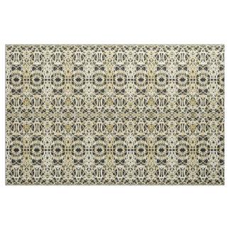 Filigree Circle Design in Gold Color Fabric