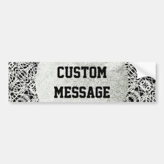 Filigree Design in Silver Color Bumper Sticker