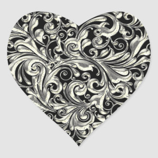 FILIGREE  HEART ENVELOPE & FAVOR SEALS HEART STICKER